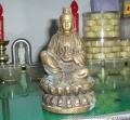 金箔贴金公司菩萨佛像免费修复居士供奉的佛像