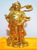 佛像,护法善神贴金,黄金,高70-80厘米真材实料贴金
