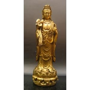 菩萨佛像贴金_高15-20厘米贴金箔观世音菩萨佛像黄金贴金